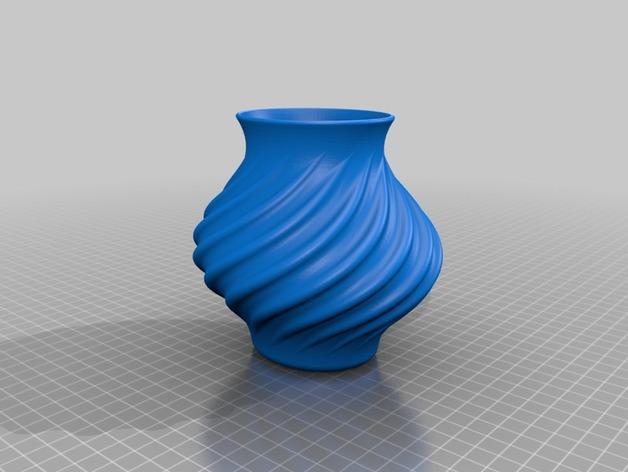 迷你圆形花瓶 3D模型  图2