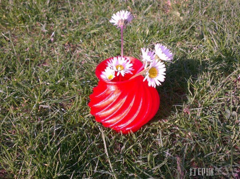 迷你圆形花瓶 3D模型  图1