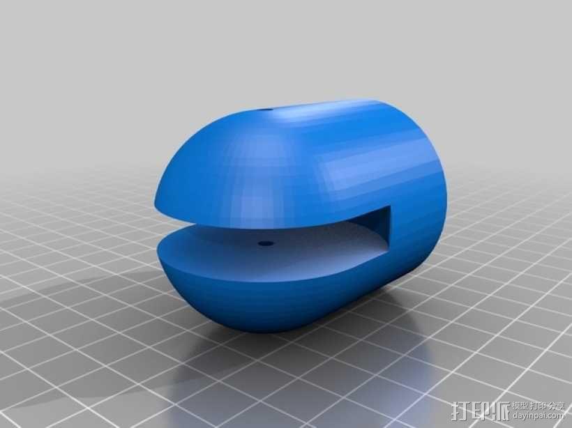 窗帘滑轮 3D模型  图6