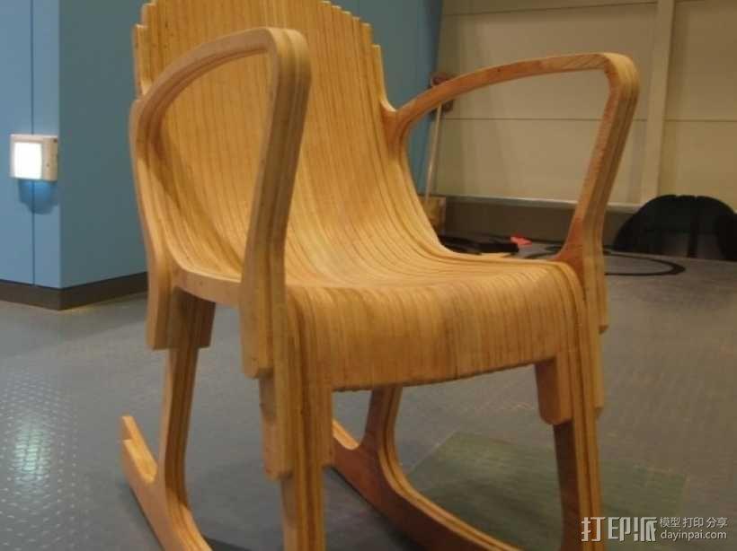 迷你摇椅 3D模型  图1