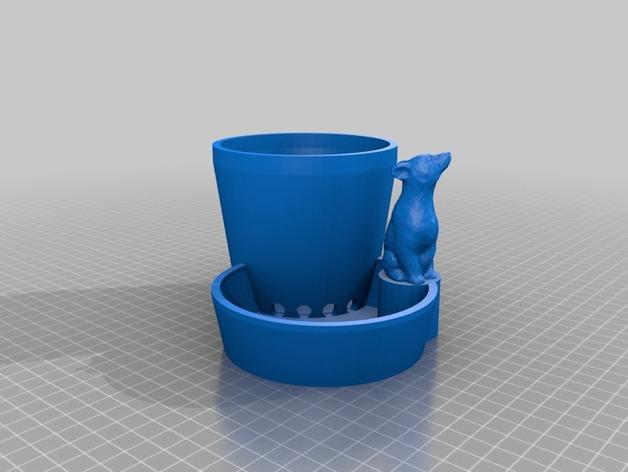 多功能花盆 3D模型  图1