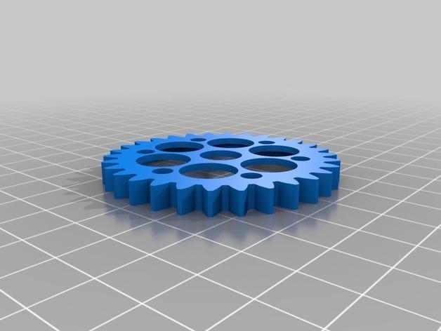 齿轮笔筒 3D模型  图2