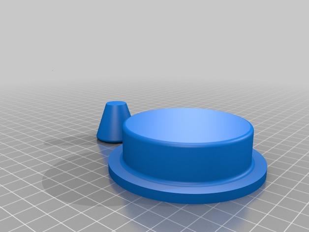 汉堡肉饼制作模具 3D模型  图3