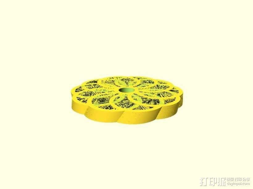 圆环形装饰品 3D模型  图4