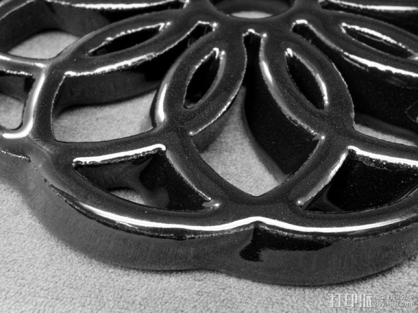 圆环形装饰品 3D模型  图2