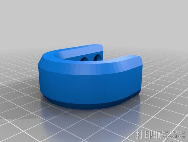 简易挂钩 3D模型  图2