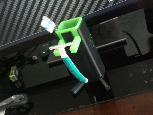 牙刷架/剃须刀架 3D模型  图2