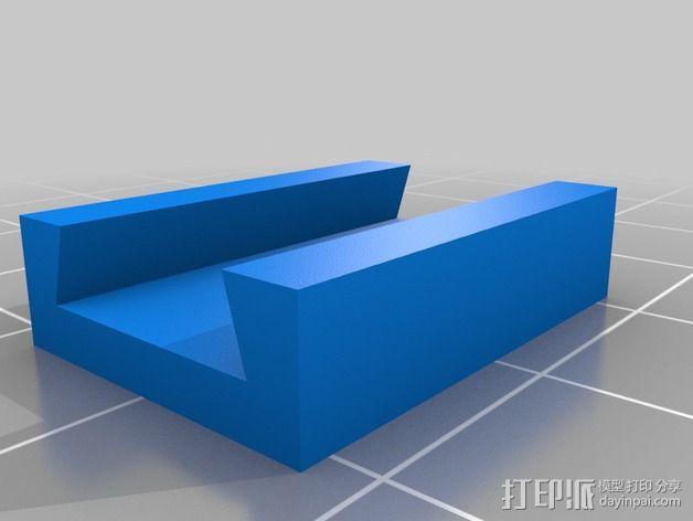壁挂式LED光带架 3D模型  图3