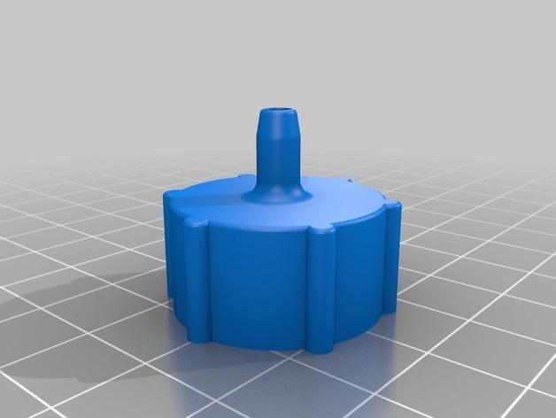 点滴器配适器/连接器 3D模型  图1