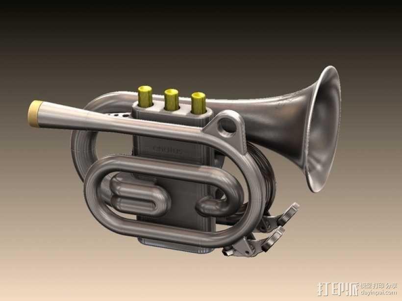 迷你爵士小号/喇叭 3D模型  图1