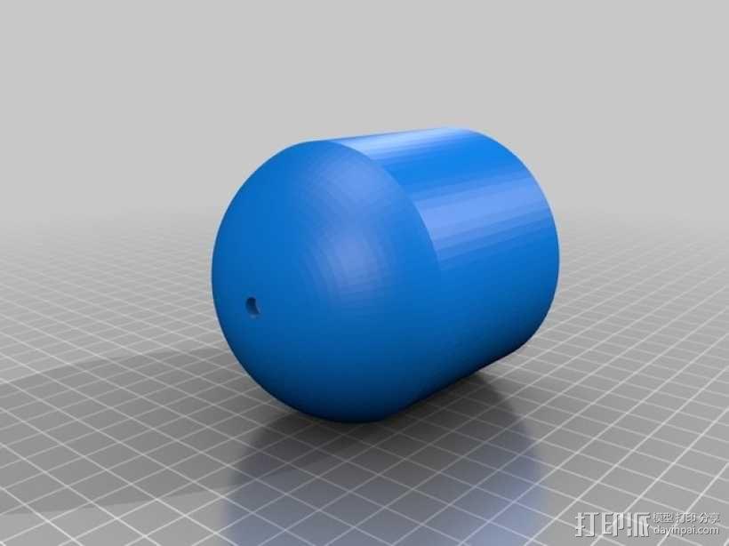壁挂式吊灯底座 3D模型  图2