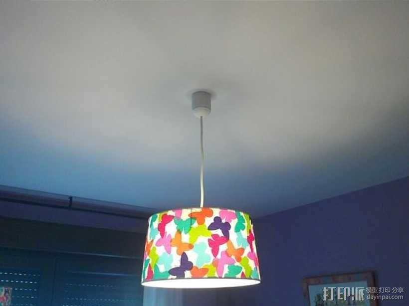 壁挂式吊灯底座 3D模型  图4