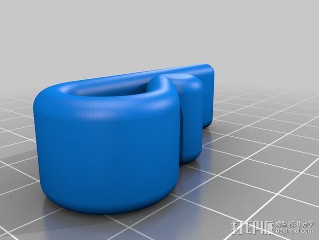 窗户窗帘绳挂钩 3D模型  图2