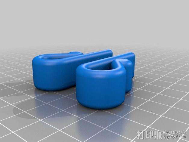 窗户窗帘绳挂钩 3D模型  图3