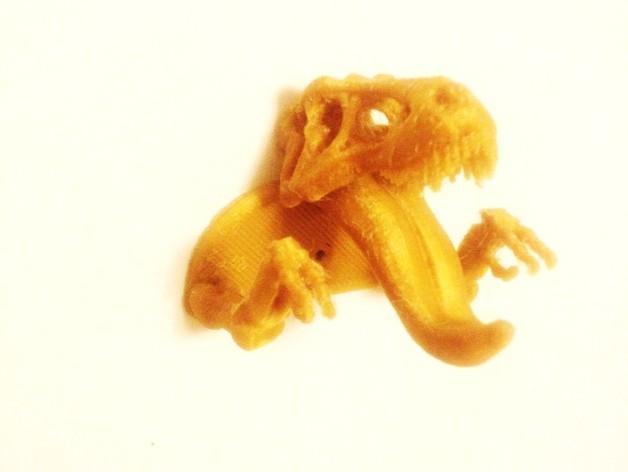 恐龙形钥匙挂钩 3D模型  图2