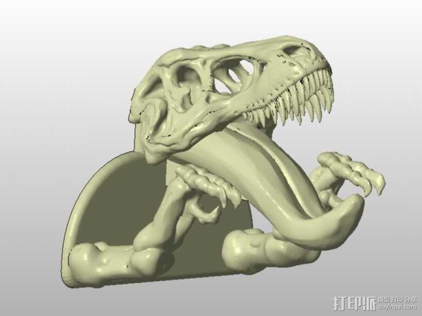 恐龙形钥匙挂钩 3D模型  图3