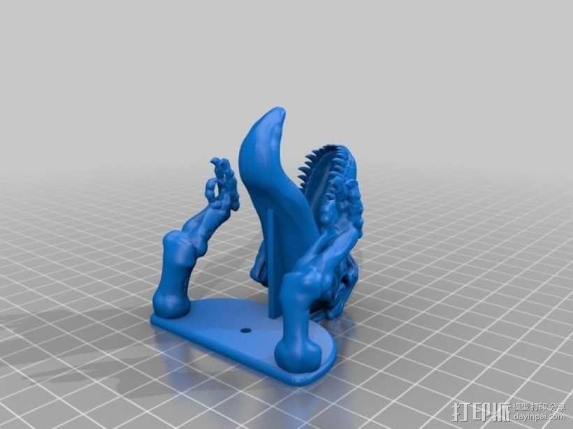 恐龙形钥匙挂钩 3D模型  图5