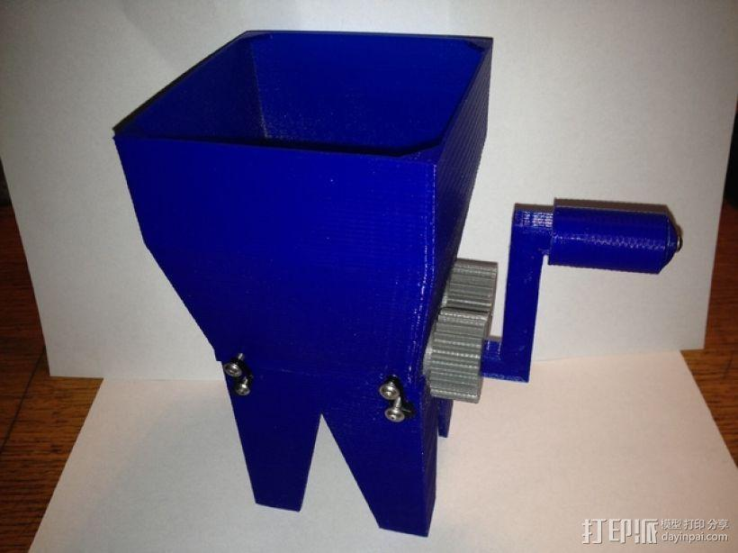 迷你玉米片压碎机 3D模型  图1