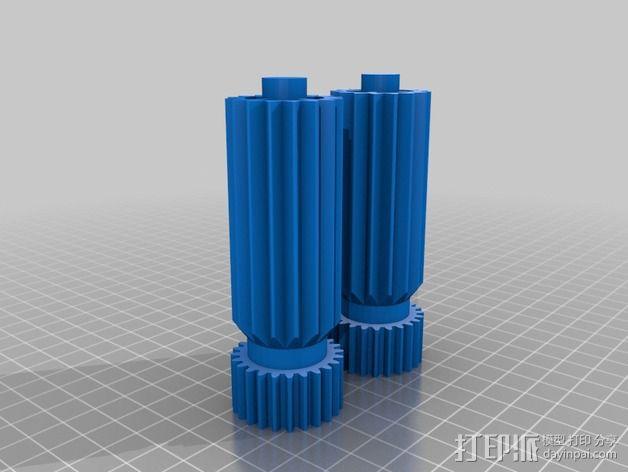 迷你玉米片压碎机 3D模型  图3