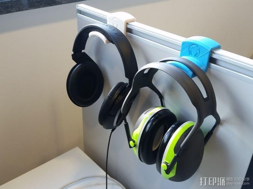 办公室耳机挂钩 3D模型  图1