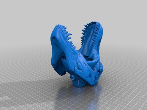 恐龙灯罩 3D模型  图1