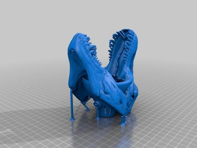 恐龙灯罩 3D模型  图3