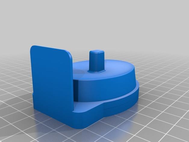 壁挂式电动牙刷架 3D模型  图1