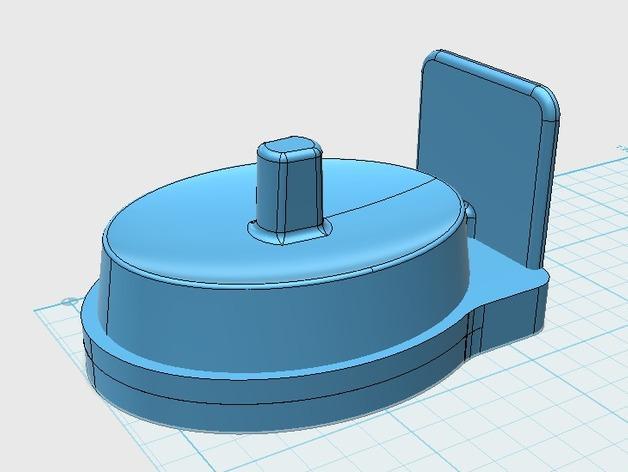 壁挂式电动牙刷架 3D模型  图2