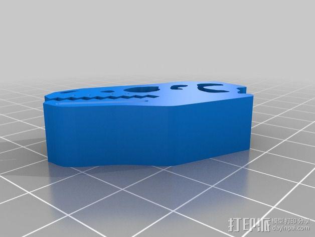 恐龙食物包装封口夹 3D模型  图2