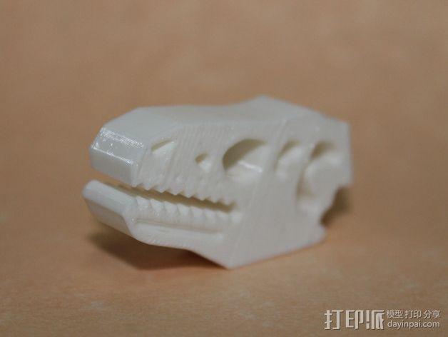 恐龙食物包装封口夹 3D模型  图3