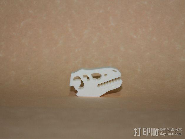 恐龙食物包装封口夹 3D模型  图4