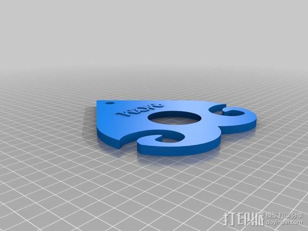 多功能玻璃酒杯架 3D模型  图3