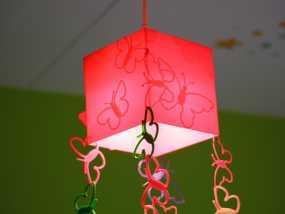 方形蝴蝶灯罩 3D模型