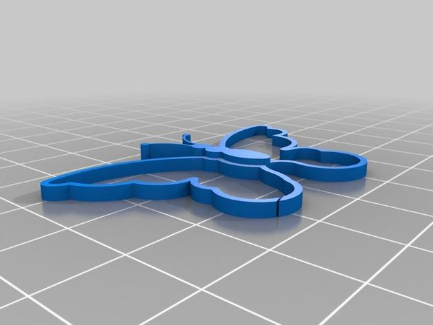 方形蝴蝶灯罩 3D模型  图8
