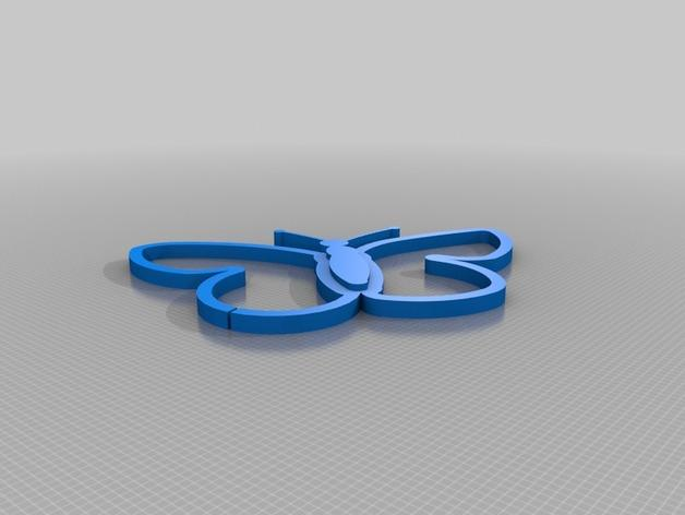 方形蝴蝶灯罩 3D模型  图9
