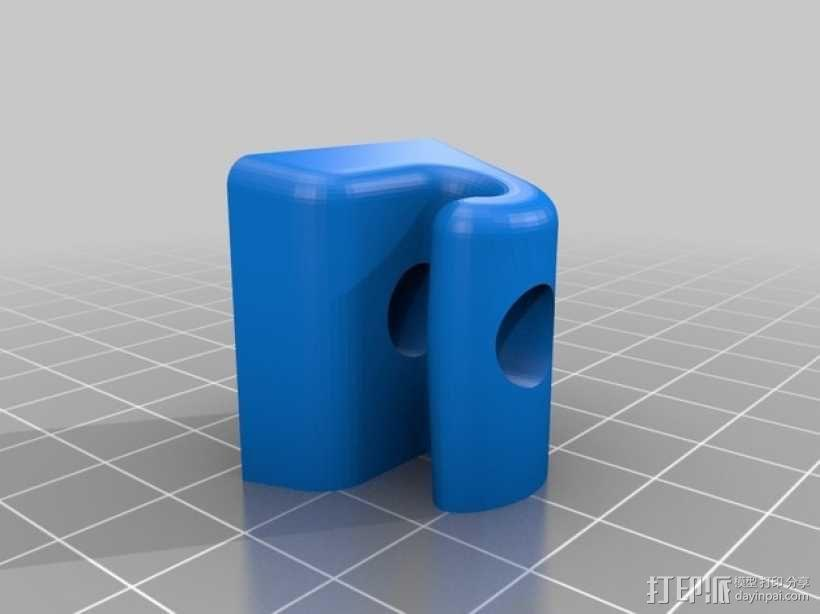 奔驰w126汽车遮阳板夹 3D模型  图2
