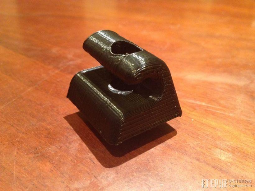 奔驰w126汽车遮阳板夹 3D模型  图1