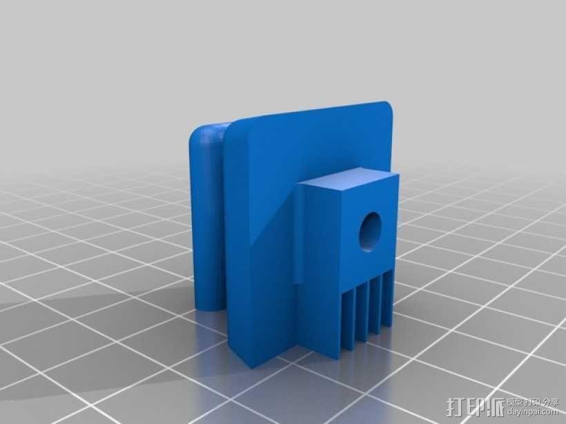 奔驰w126汽车遮阳板夹 3D模型  图4