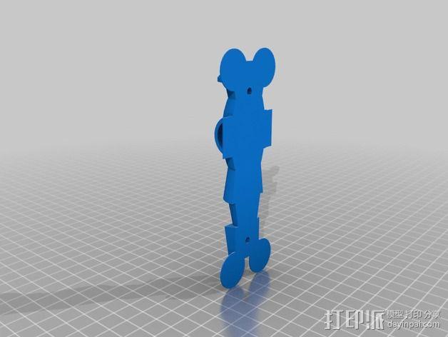桌上足球零部件 3D模型  图2