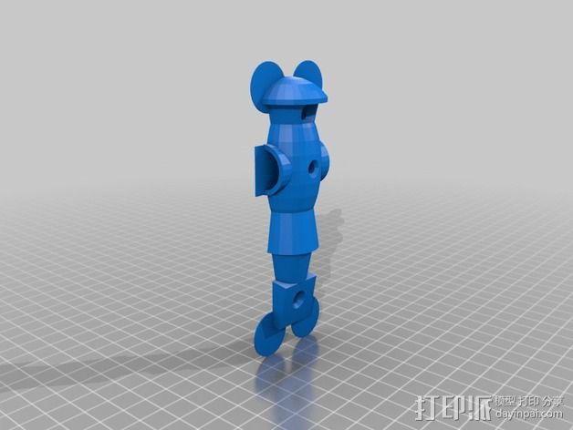 桌上足球零部件 3D模型  图3
