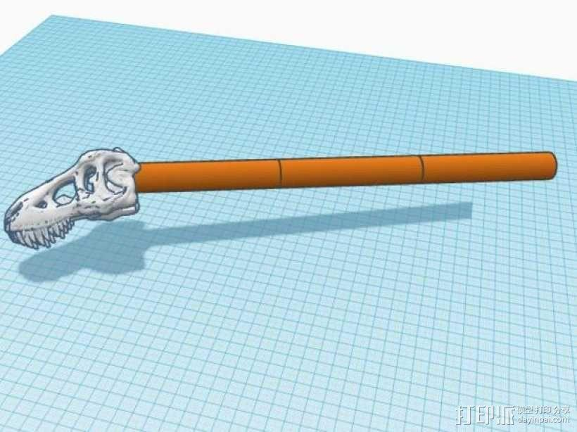 恐龙形长柄扒 3D模型  图4