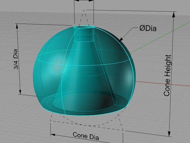 定制化细绳开关;零部件 3D模型  图1