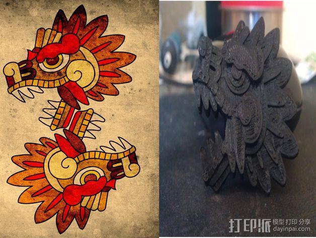 羽蛇神装饰品 3D模型  图1
