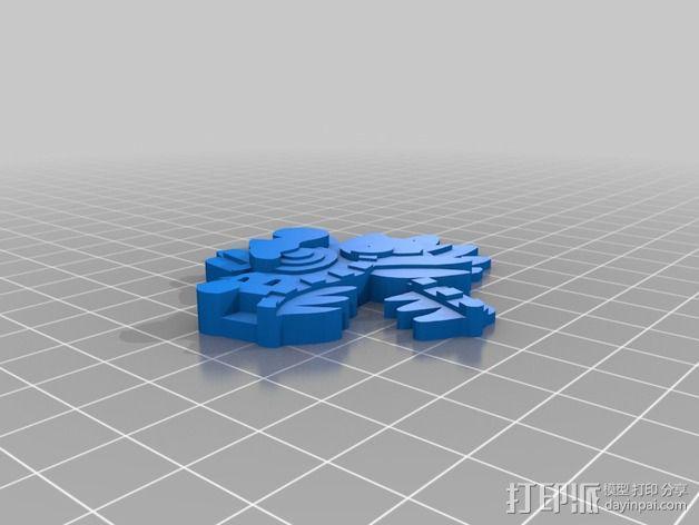 羽蛇神装饰品 3D模型  图2