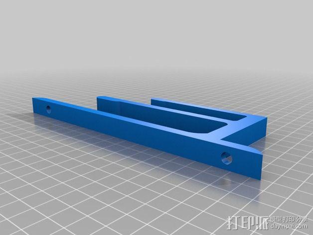壁挂式笔记本电脑/平板电脑架 3D模型  图3