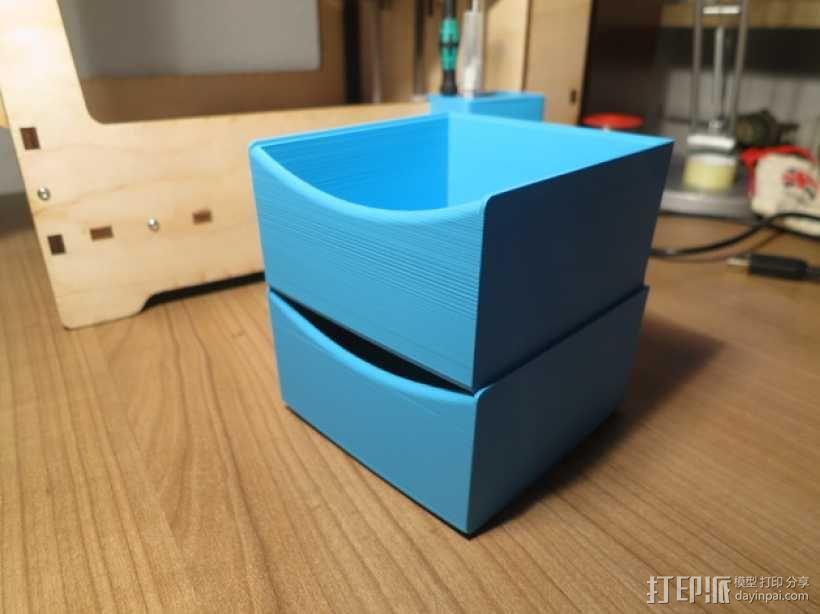可堆叠储物盒 3D模型  图1
