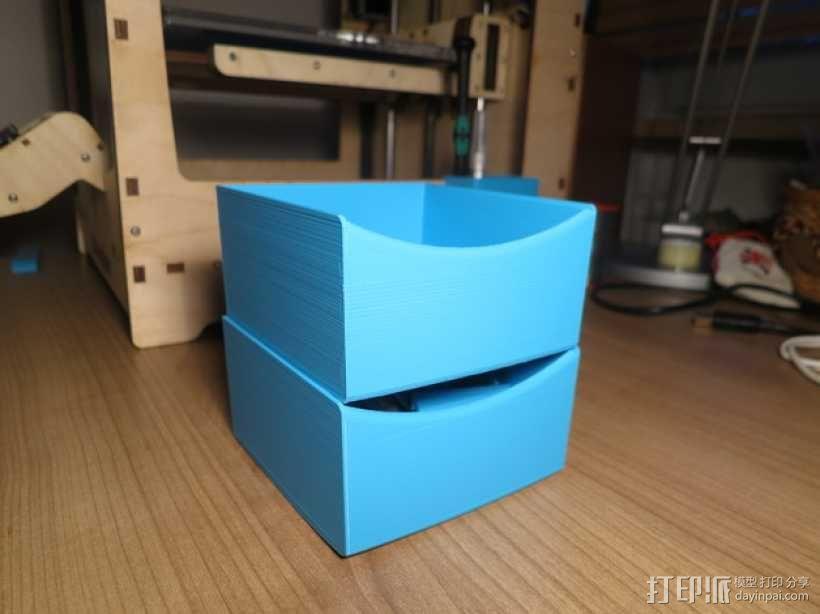 可堆叠储物盒 3D模型  图3