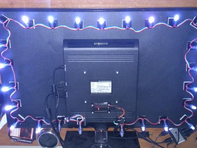 45度倾斜角的LED灯支架 3D模型  图2