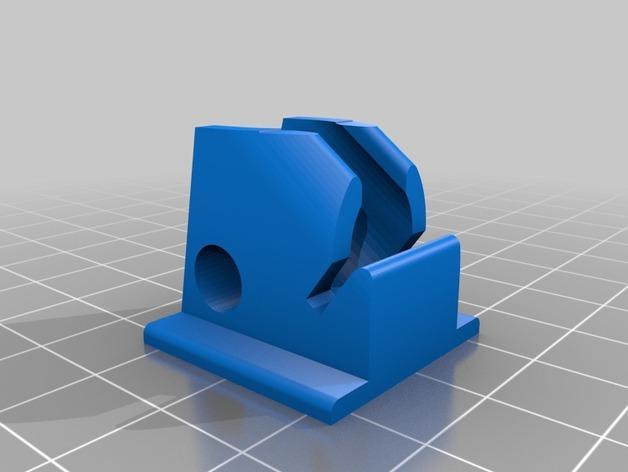 45度倾斜角的LED灯支架 3D模型  图5