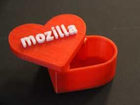 MozLove心形礼物盒 3D模型